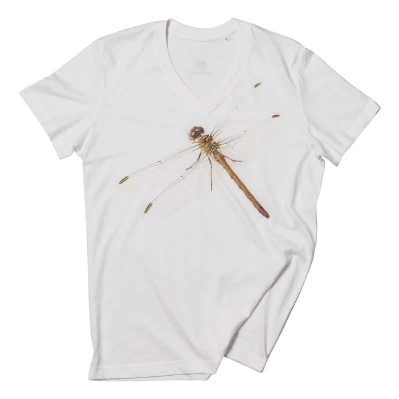 T-Shirt-Dragonfly-white - Fashion Nature, l'esclusiva maglietta Dragonfly
