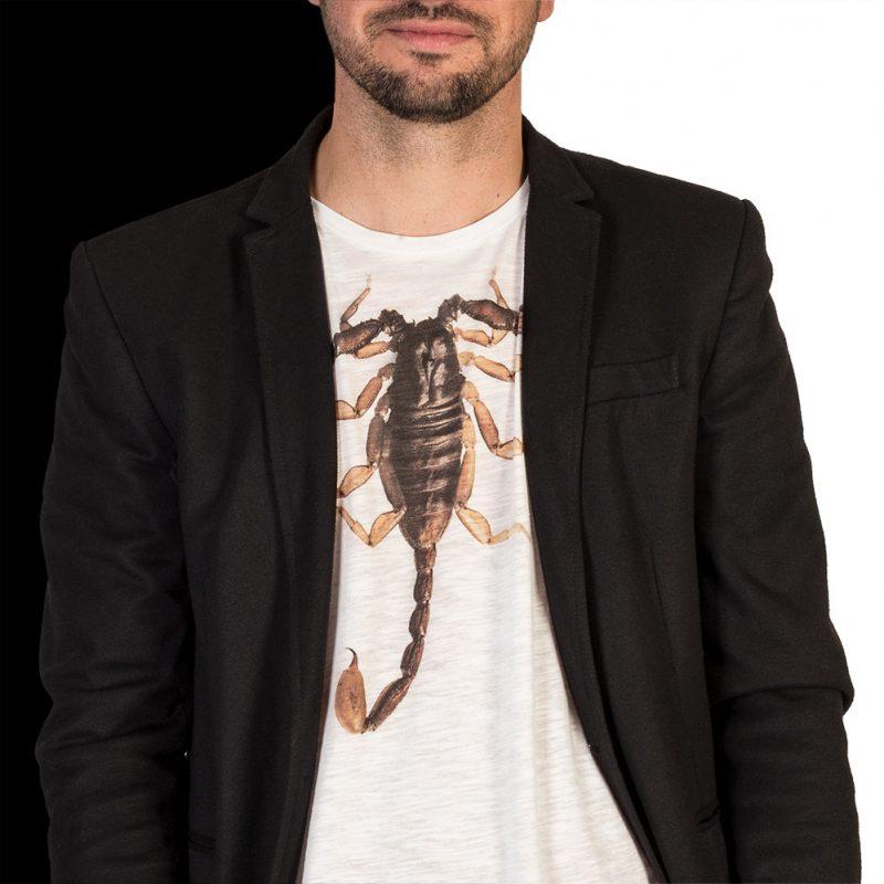 T-Shirt-M-Scorpions-white-3