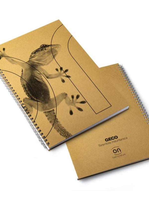 Gecko naturebook taccuino block note GECO formato A4 in carta riciclabile con 50 fogli, rilegatura in spirale metallica