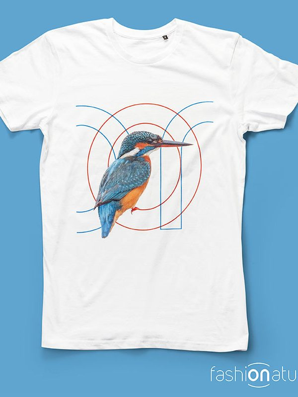 ON T-Shirt Martin pescatore Kingfisher organic cotton - T-shirt Fashionature sono tutte Biologiche al 100% e stampate con inchiostri certificati OEKO-TEX.