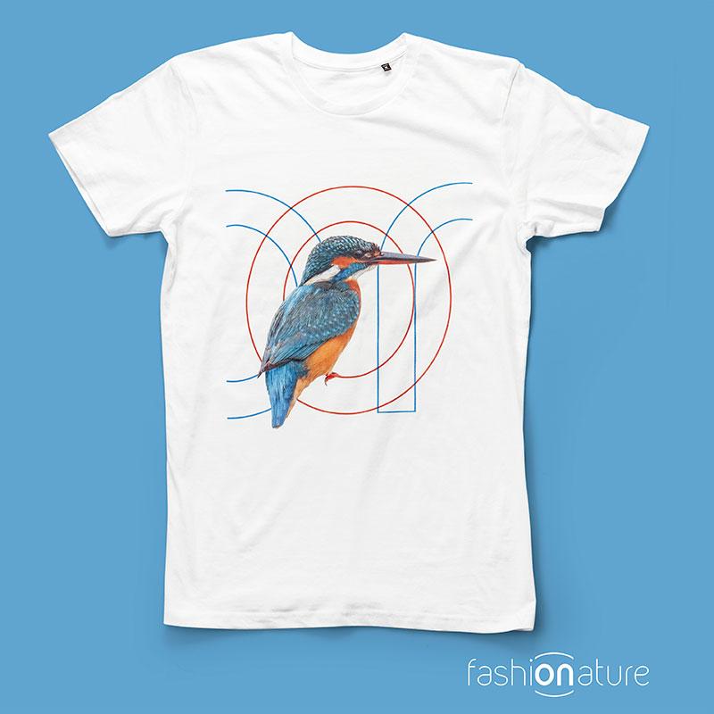 ON T-Shirt Martin pescatore Kingfisher organic cotton - T-shirt Fashionature sono tutte Biologiche al 100% e stampate con inchiostri certificati OEKO-TEX.