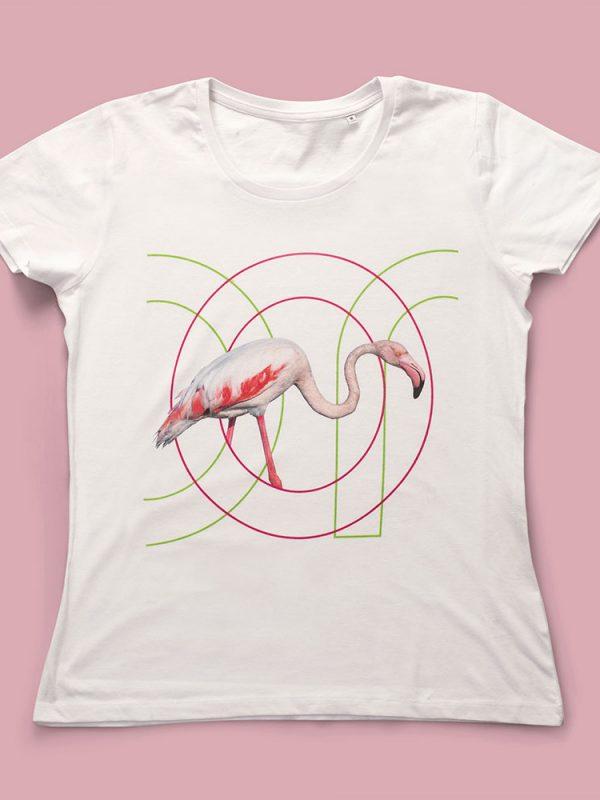 Ricostruiamo la casa dei Fenicotteri ON T-Shirt Flamingo in cotone morbido e compatto realizzata in Jersey Organico 140 gr/m2